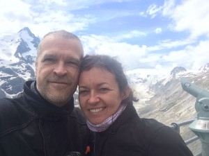 Grinning at the Grossglockner Glacier